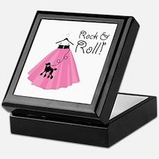 Rock and Roll Poodle Skirt Keepsake Box