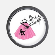 Rock and Roll Poodle Skirt Wall Clock