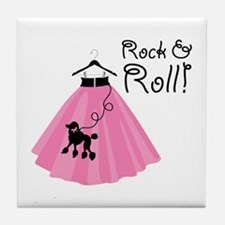 Rock and Roll Poodle Skirt Tile Coaster
