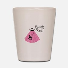 Rock and Roll Poodle Skirt Shot Glass