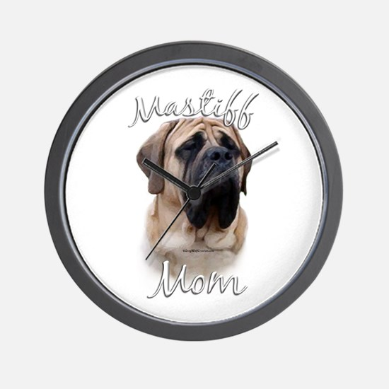 Mastiff(fawn)Mom2 Wall Clock