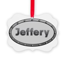 Jeffery Metal Oval Ornament