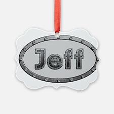 Jeff Metal Oval Ornament