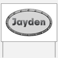 Jayden Metal Oval Yard Sign