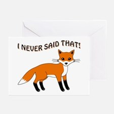 I NEVER SAID THAT Greeting Cards (Pk of 20)