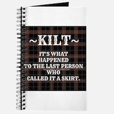 Kilt-Dont Call It A Skirt Journal