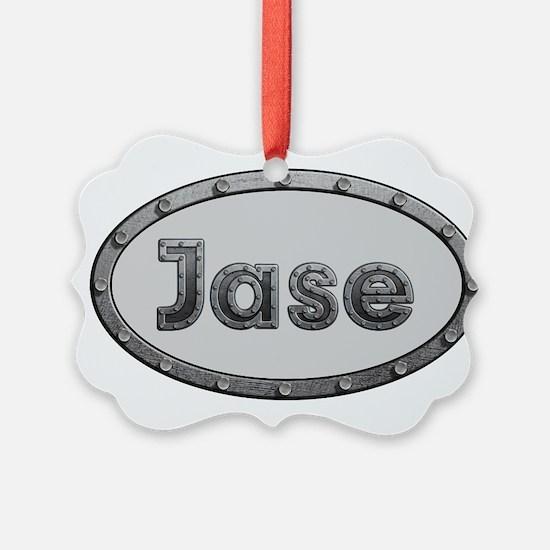Jase Metal Oval Ornament
