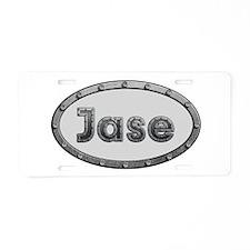 Jase Metal Oval Aluminum License Plate