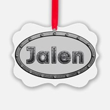 Jalen Metal Oval Ornament