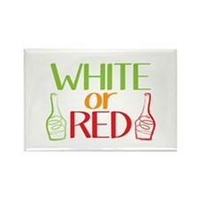 White or RED wine bottles Magnets