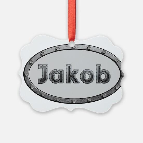 Jakob Metal Oval Ornament