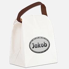 Jakob Metal Oval Canvas Lunch Bag
