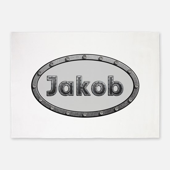 Jakob Metal Oval 5'x7'Area Rug