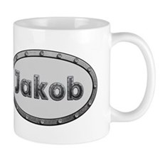 Jakob Metal Oval Mugs