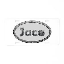Jace Metal Oval Aluminum License Plate