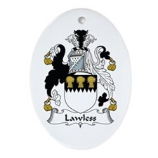 Lawless Oval Ornament