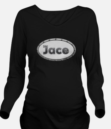 Jace Metal Oval Long Sleeve Maternity T-Shirt