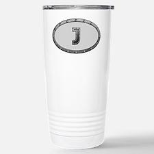 J Metal Oval Travel Mug