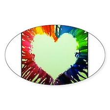 Rainbow Heart Decal