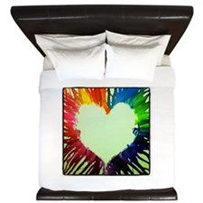 Rainbow Heart King Duvet
