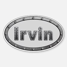 Irvin Metal Oval Decal