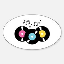 Music Records Notes Decal