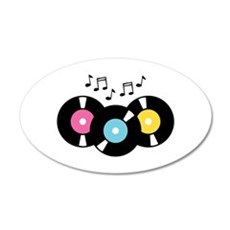 Music Records Notes Wall Decal