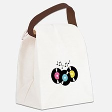 Music Records Notes Canvas Lunch Bag