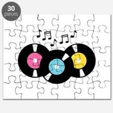 Music Records Notes Puzzle