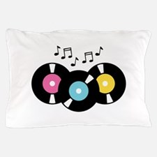 Music Records Notes Pillow Case