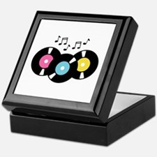 Music Records Notes Keepsake Box