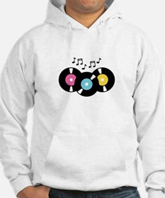 Music Records Notes Hoodie