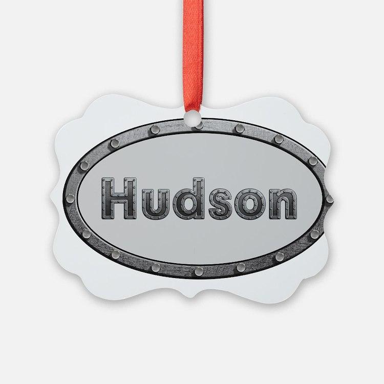 Hudson Metal Oval Ornament
