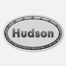 Hudson Metal Oval Decal