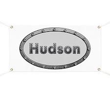 Hudson Metal Oval Banner