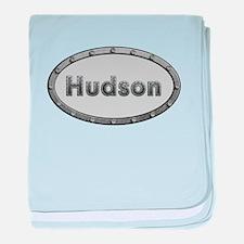 Hudson Metal Oval baby blanket