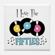 I Love the Fifties Tile Coaster