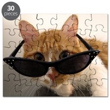 Cool Cat Wearing Sunglasses Puzzle