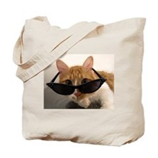 Cool Cat Wearing Sunglasses Tote Bag