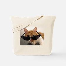 Cool Cat Wearing Sunglasses Tote Bag