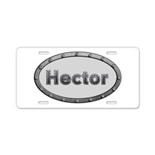 Hector Metal Oval Aluminum License Plate