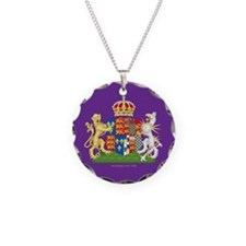 Anne Boleyn Coat of Arms Necklace Circle Charm