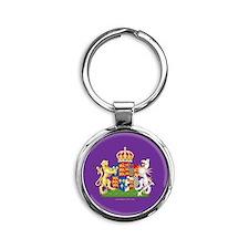 Anne Boleyn Coat of Arms Round Keychain
