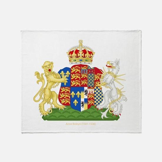Anne Boleyn Coat of Arms Throw Blanket