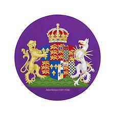 """Anne Boleyn Coat of Arms 3.5"""" Button"""