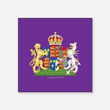 "Anne Boleyn Coat of Arms Square Sticker 3"" x 3"""