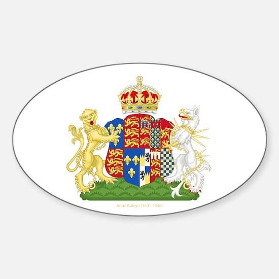 Anne Boleyn Coat of Arms Sticker (Oval)