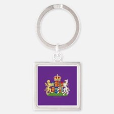 Anne Boleyn Coat of Arms Square Keychain