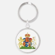 Anne Boleyn Coat of Arms Round Keychain