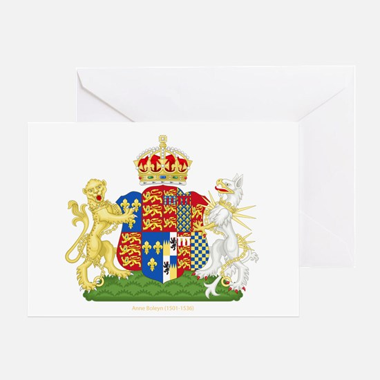 Anne Boleyn Coat of Arms Greeting Card